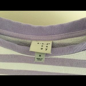 French Terry Striped Top with Grommet details
